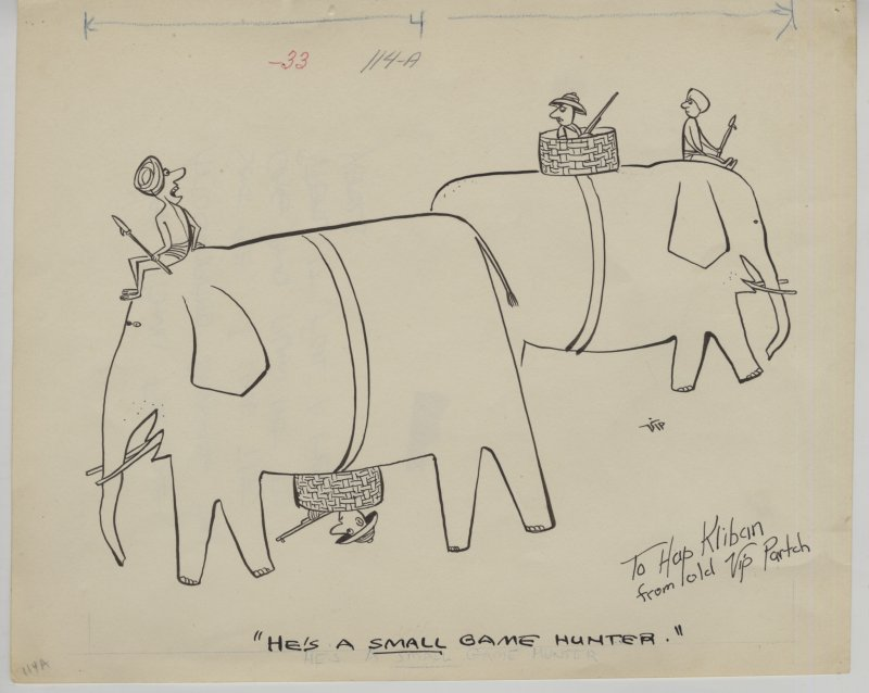 Original drawing inscribed to B. Kliban
