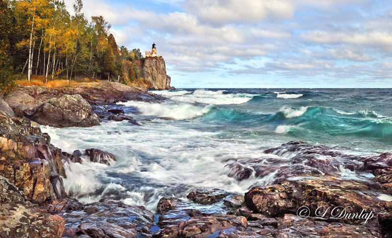 **** 43.7 - Split Rock Lighthouse:  Autumn Surf, October 1st