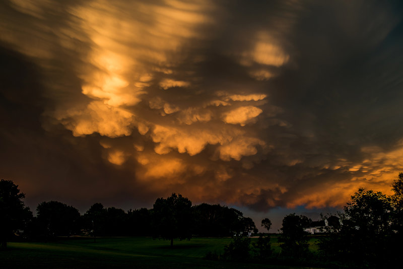Mammatus Clouds at Sunset