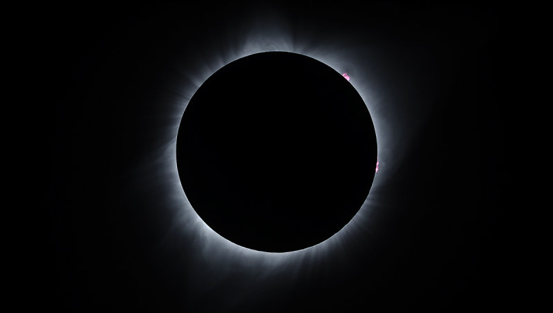Total Solar Eclipse 2017 - Corona Detail with Prominence Enhancement