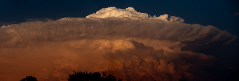 Distant Thunderstorm at Sunset