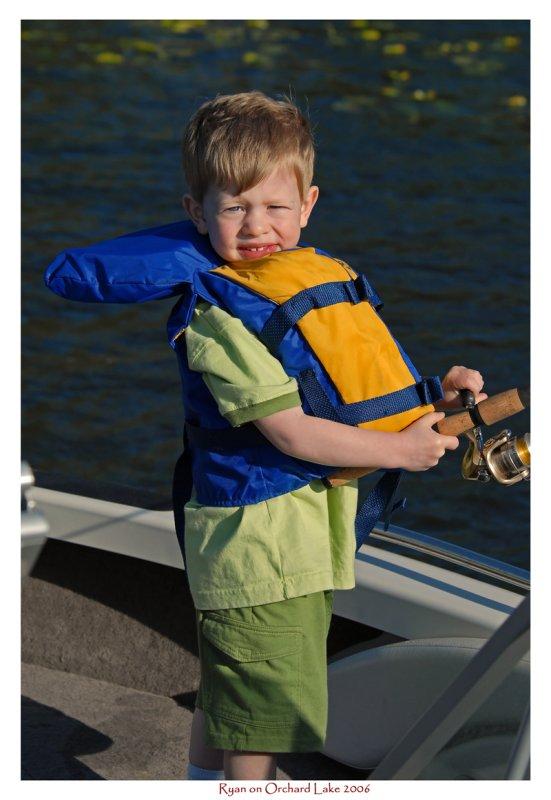 Ryan fishing on Orchard lake