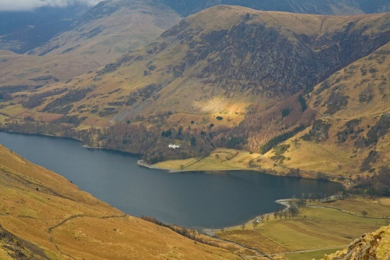 Buttermere from Haystacks foot Hills