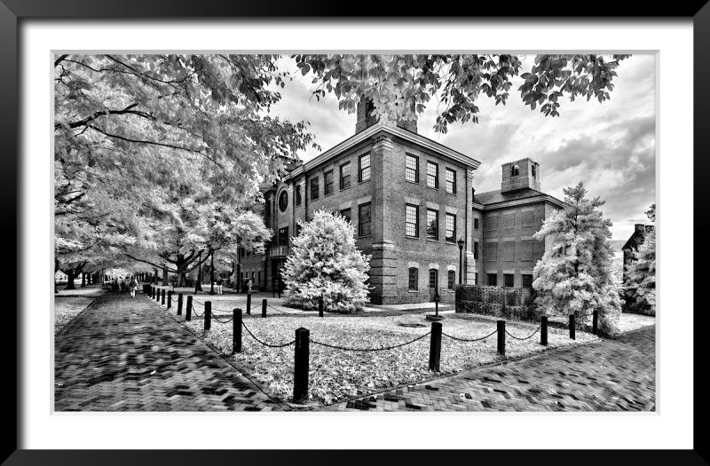 McGlothlin Street Hall in B&W Infrared