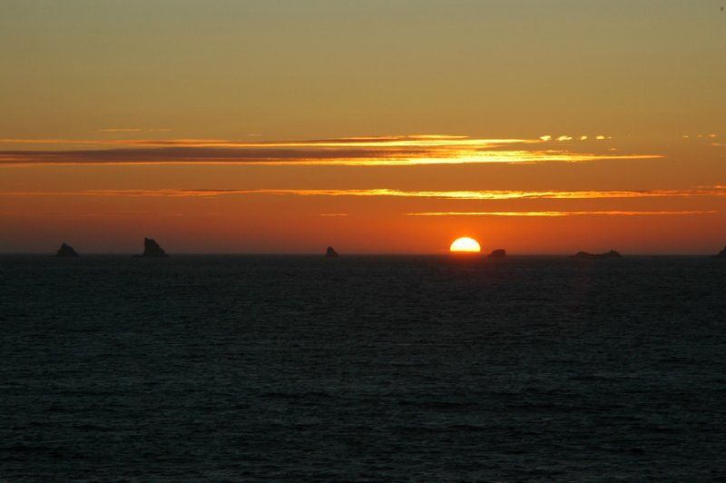 Sunset at Port Orford, OR