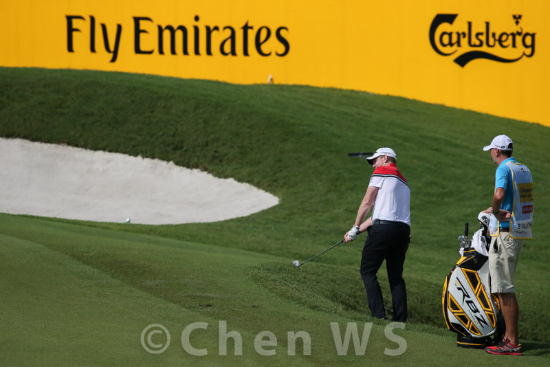 Stephen Gallacher finishing at the green of Hole-18.