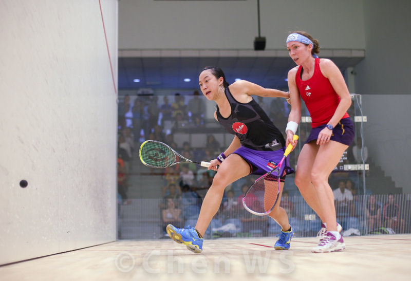 Low Wee Wern (Malaysia) v Madeline Perry  (Ireland) red/purple