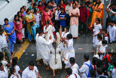 Kids showing traditional pastimes games