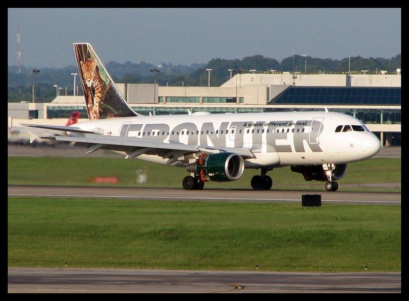 Frontier Airlines Airbus A319 Jaguar