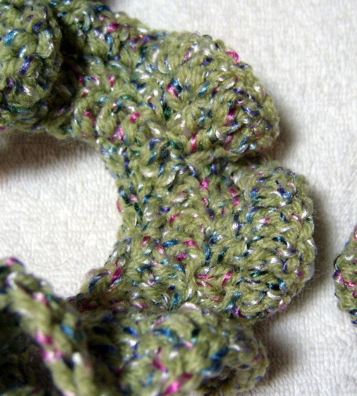 Detail of Crocheted Scarf