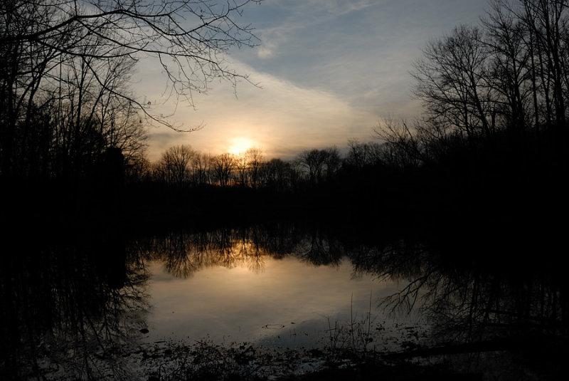 Winter Sunset Powel Crosley Lake