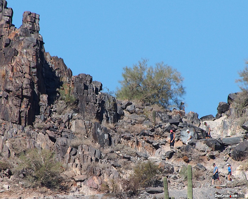 Joe, Cesar & Brian climbing in the Phoenix Mountain Preserve