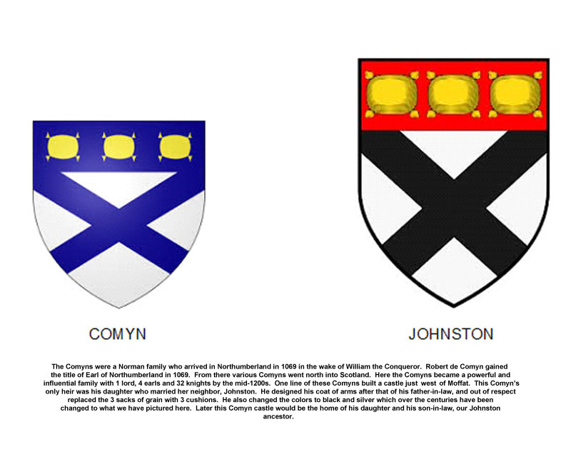 Comyn and Johnston/e Coats of Arms
