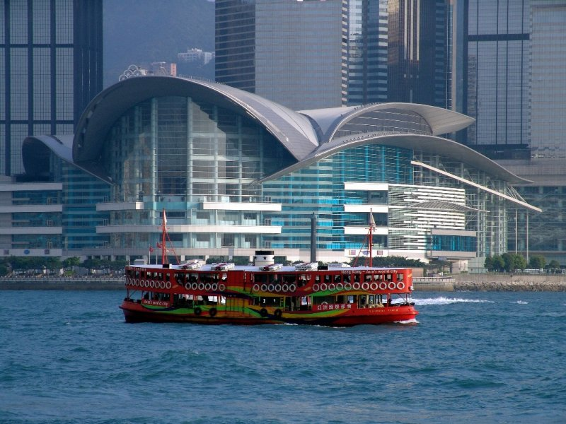 Star Ferry ; Hong Kong Convention and Exhibition Centre