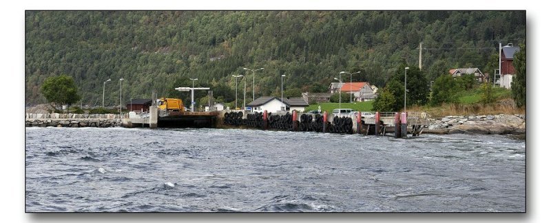 The ferry is leaving Lote.