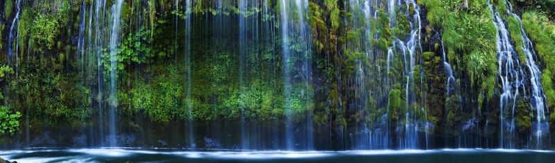 Mossbrae Falls panorama