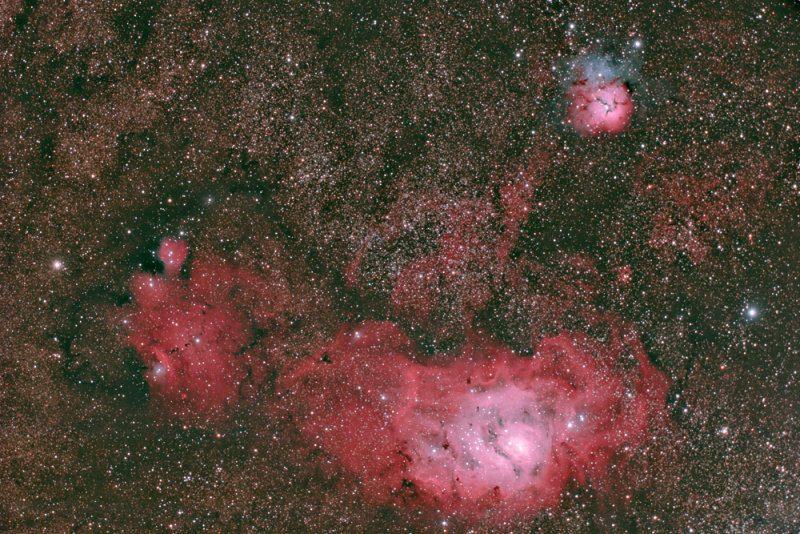 M8, M20 & IC4685 in Sagittarius