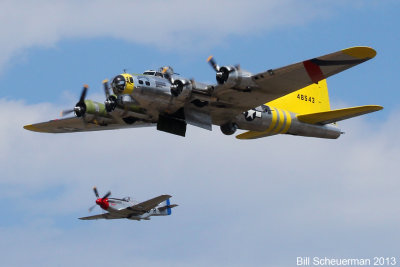 P-51 The Rebel and B-17 Chucky