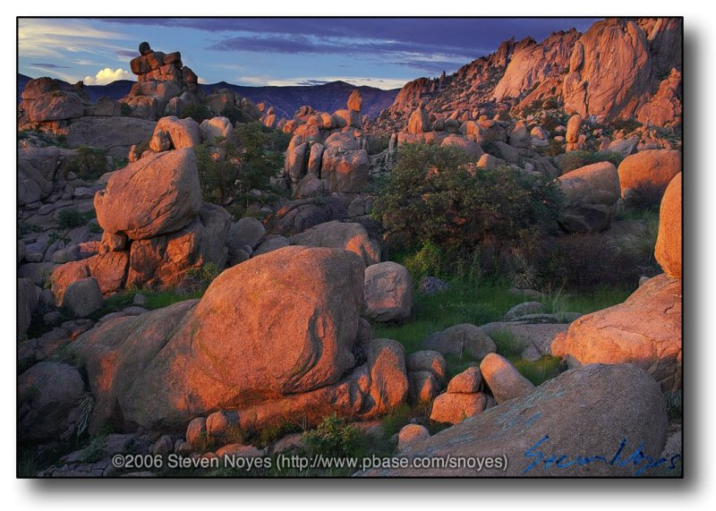 Sunset at Concil Rocks : Dragoon Mountains