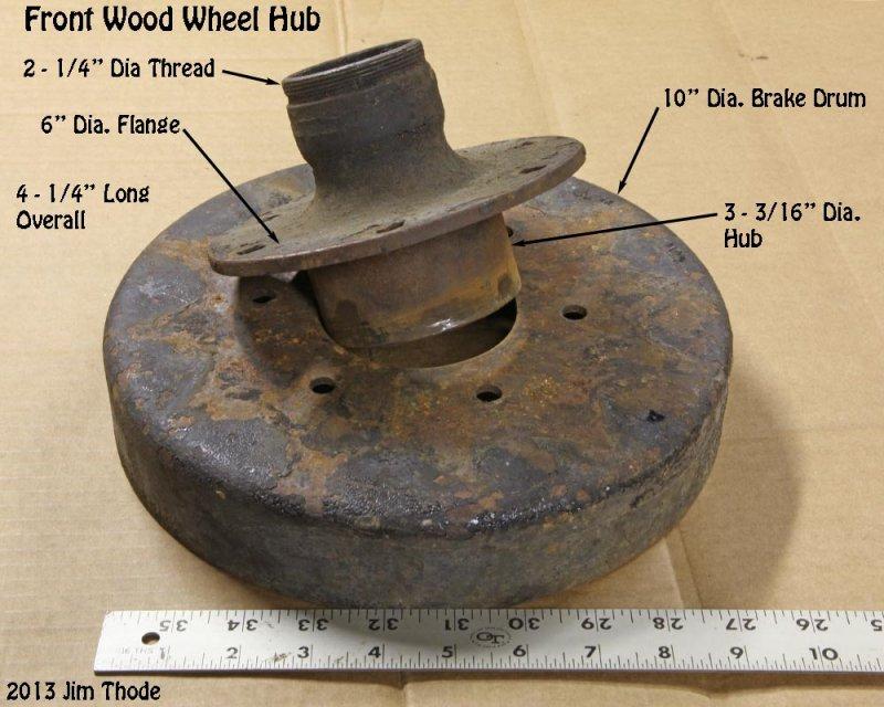 Front Wood Wheel Hub,  Brand??