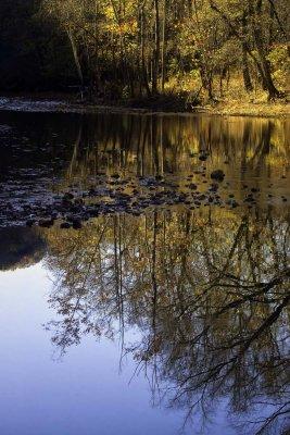 November Sunrise Reflection at Ponca Access