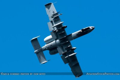 2012 - USAF A-10 Warthog on short final approach to Opa-locka Executive Airport military aviation aircraft stock photo #2208