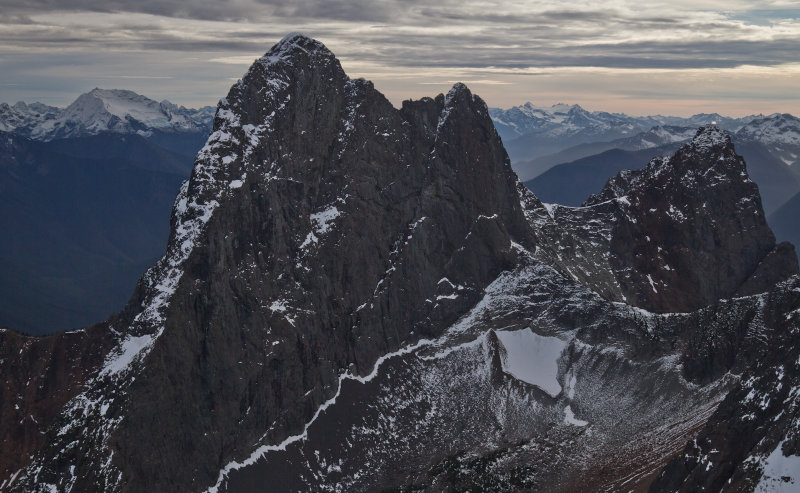 Hozomeen South Peak, North Face <br>(Hozomeen110512_017-8.jpg)