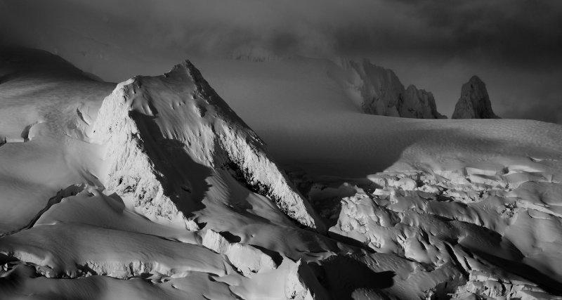 Sulphide Glacier (L), Crystal Glacier (Center/Right), & Nooksack Tower<br>(Shuksan_112412_035-2.jpg)*