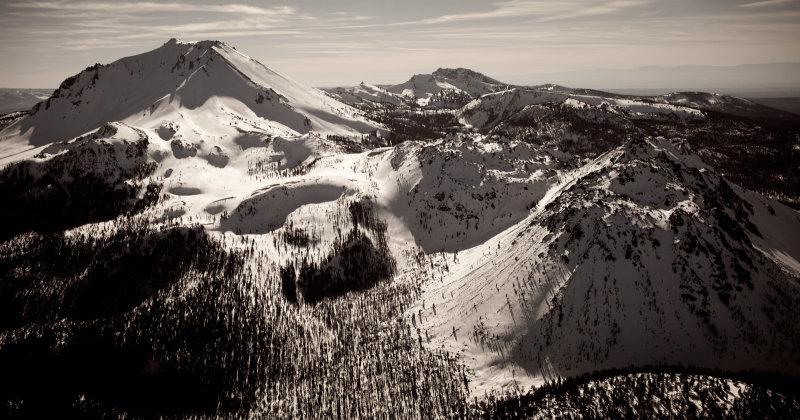 Lassen Peak & Chaos Crags From The North <br>(Lassen_011913_004-6.jpg)