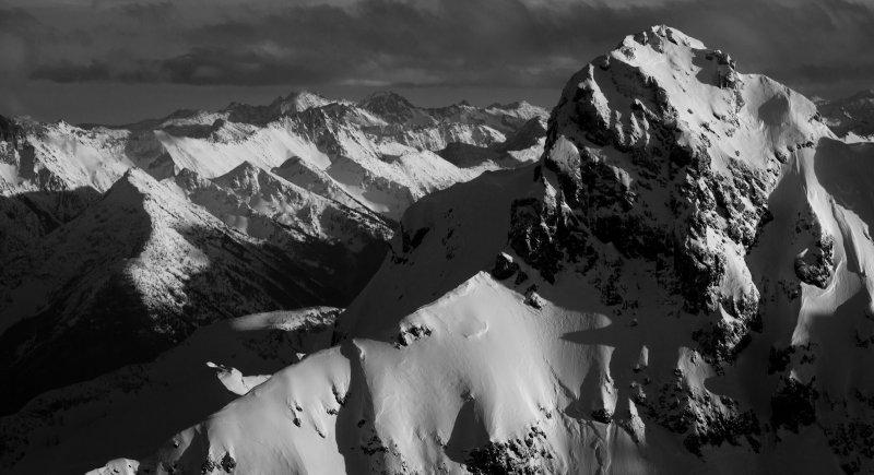 Jack Mountain Summit Detail, Looking East <br> (Jack_012513_059-5.jpg)