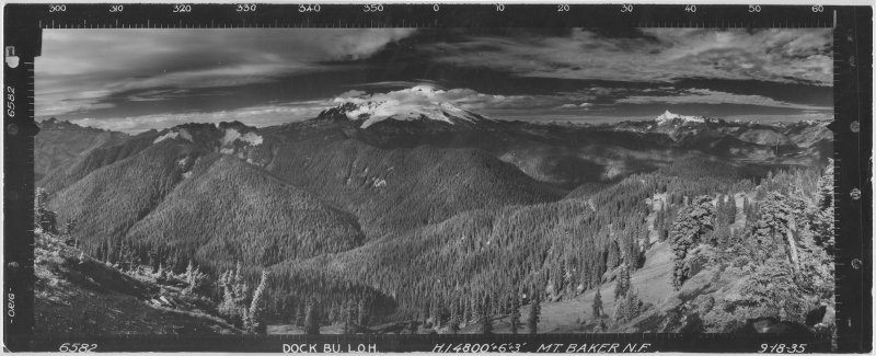 Mount Baker From The Dock Butte Fire Lookout, 1935<br> (6582compDR-1.jpg)