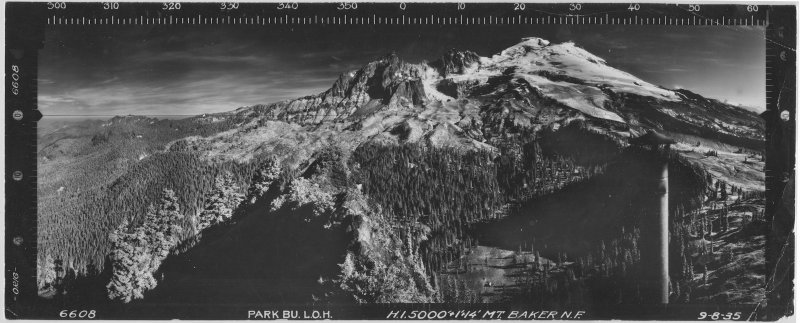 Mount Baker From Atop The Park Butte Fire Lookout, 1935 <br> (6608compDR-2.jpg)