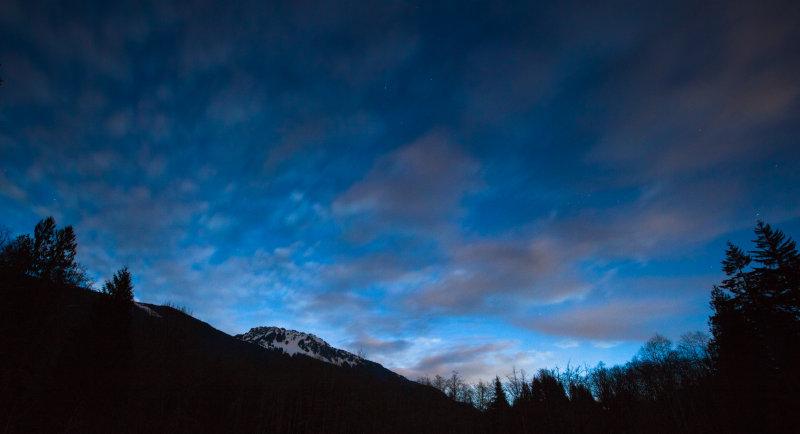 Sauk Mountain At Dawn <br> (Moonset_032813_006-2.jpg)
