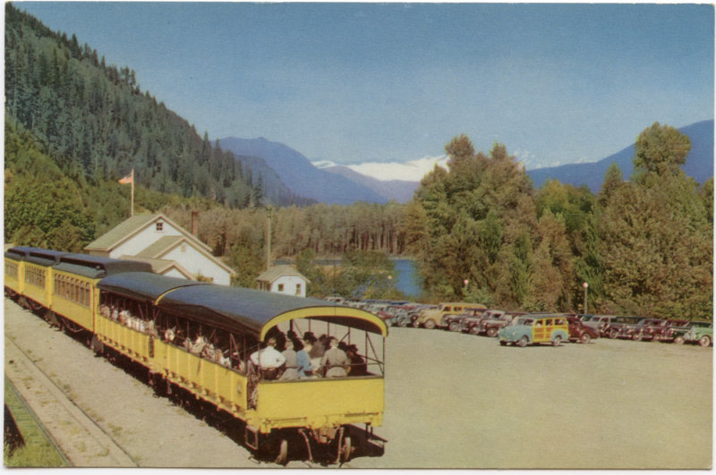 Skagit Hydroelectric Project Tour Train At Rockport, Washington <br> (NCpostcard_011-7.jpg)