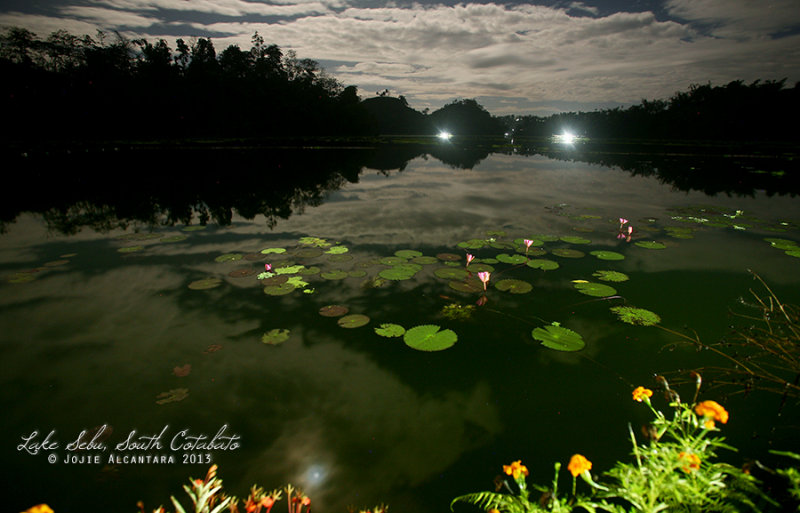 Lake Sebu on a full moon