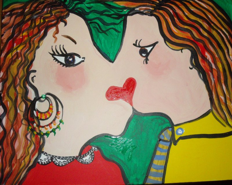 Canvas kiss £100 Sold