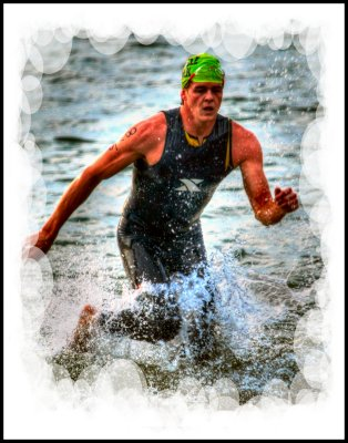 Out of the water at the 2012 Disco Triathlon