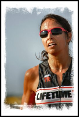 Jennifer, a Lifetime Fitness Trainer, at the 2012 Toll Tag Triathlon