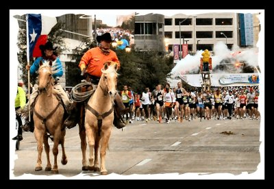 Start of the 2007 Dallas Marathon