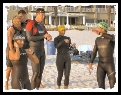 Coach Tom Ryan's final instructions before the 2007 Florida Half Ironman