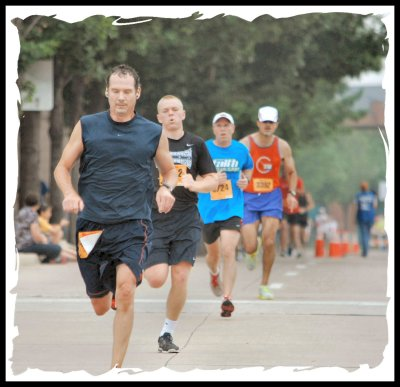 Final 100 yards at the inaugural Lone Star 10K
