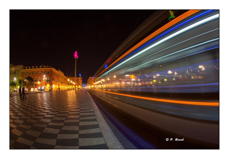 IPS-2 Nice Tram at Night - 0434