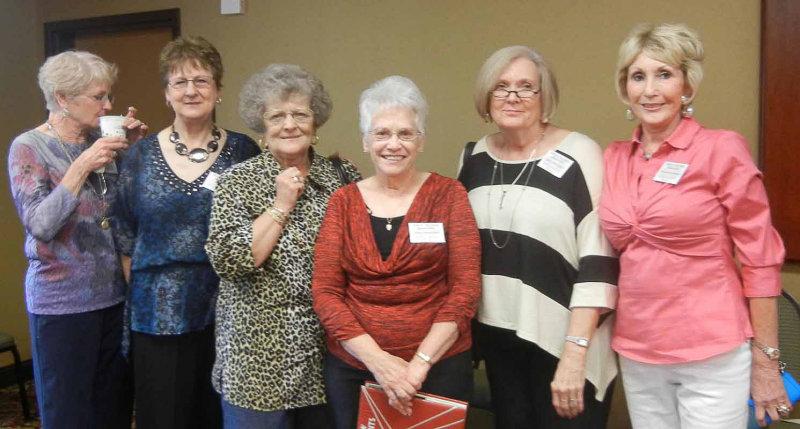 Ann Davidson Cope, Pat Parker, Janis Bisbee Miller, Karen Hudson Hunt, Linda Proffitt Decker, Judy Higginbotham Matthews