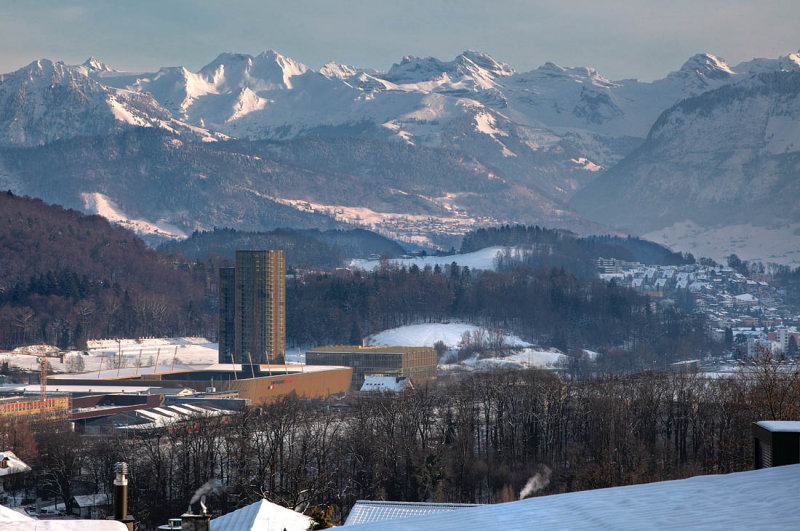 Swisspore arena with view to Horw