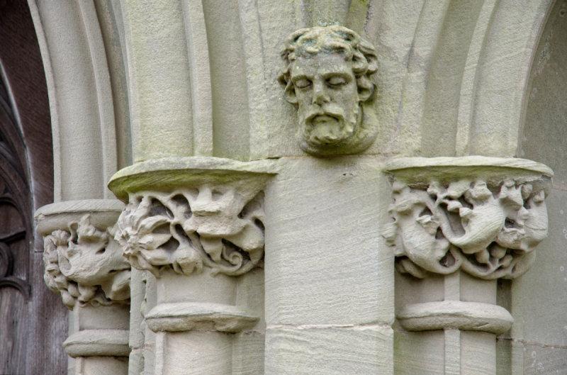 carvings next to west door
