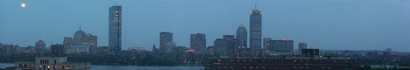 Boston at Dusk, seen from the Cambridge Marriott