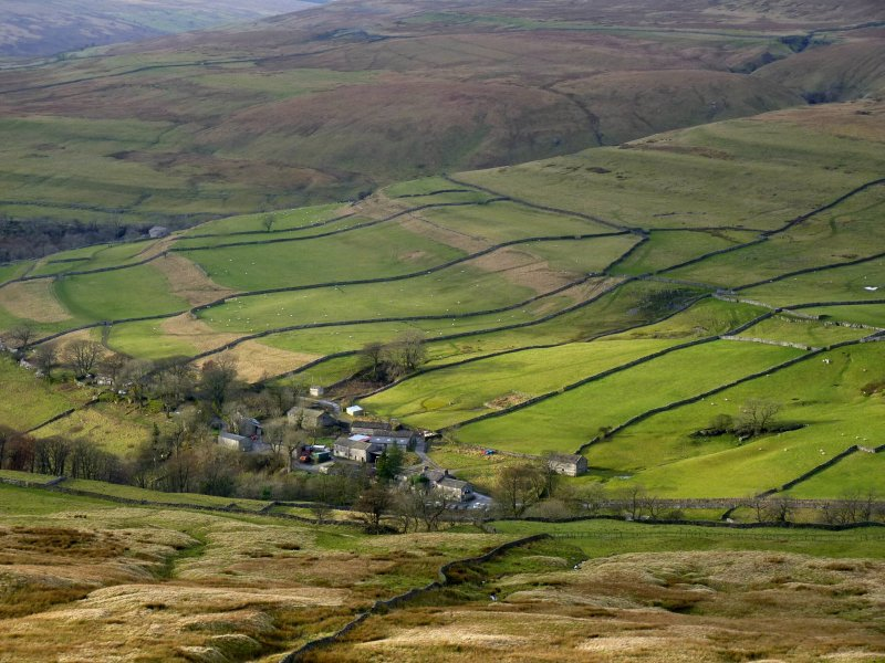 The village of Cray in Upper Wharfedale