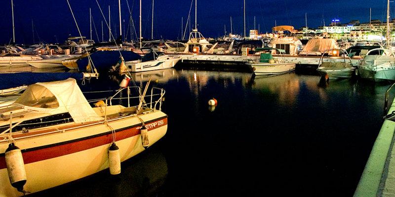 Harbour at night, Puerto Banus