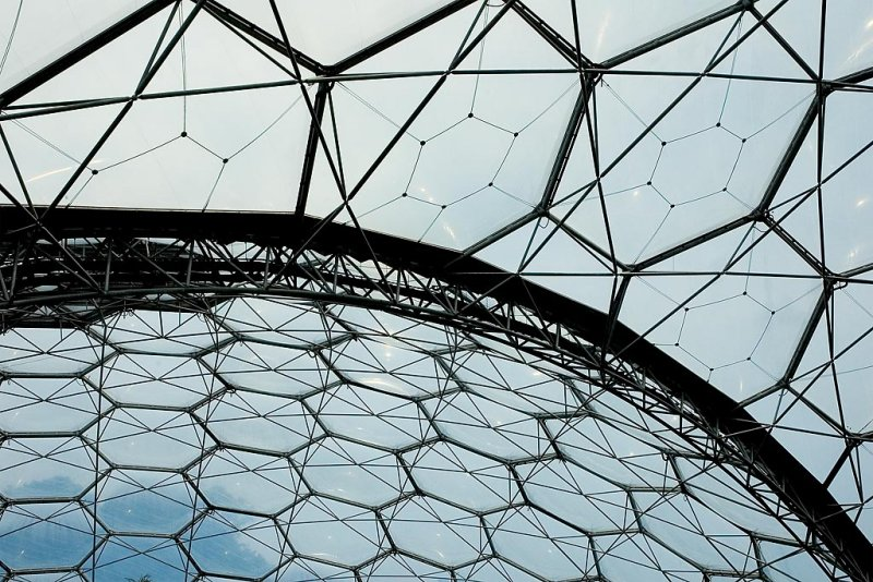 Roof panels, Eden Project, Cornwall