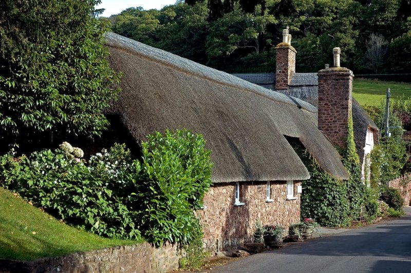 Thatched house, Dunster, Somerset